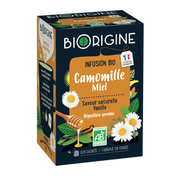Infusion camomille miel