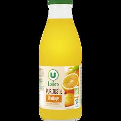 Pur jus orange U BIO, bocal 1 litre
