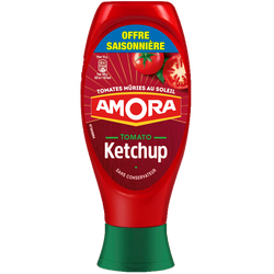 Ketchup nature AMORA, flacon souple top down de 550g