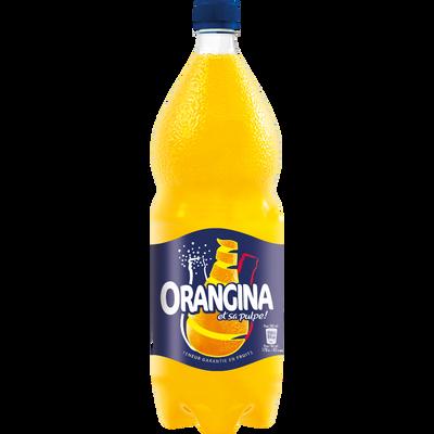 ORANGINA standard à la pulpe d'orange, bouteille de 2 litres