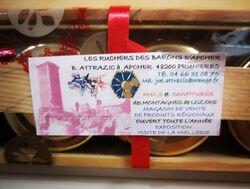 6 pots de confitures, Les Ruchers des barons d'Apcher, 6x45g
