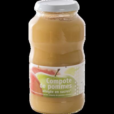 Compote de pomme allégée en sucres, bocal de 720g
