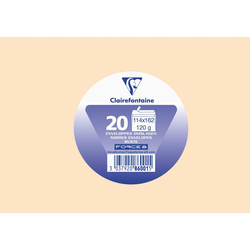 Enveloppe auto adhésive CLAIREFONTAINE, 114x162mm, ivoire, papier 120g, 20 unités