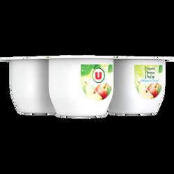 Coupelle allégée dessert de fruits pomme et poire U, 4 pots de 100g, 400g