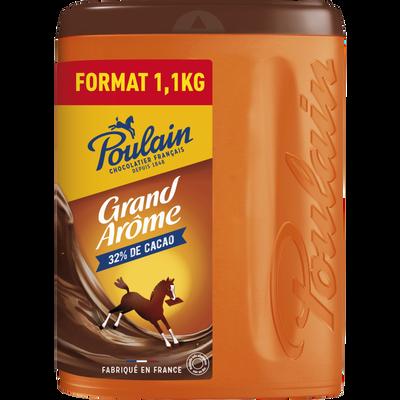 Chocolat en poudre grand arôme POULAIN, boîte 1,1kg