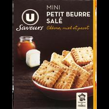 LU Mini Petit Beurre Chèvre Miel Pavot Saveurs U, Paquet De 65g