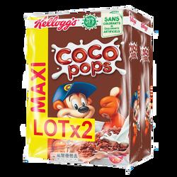 Coco Pops KELLOGG'S, 2 paquets de 550g