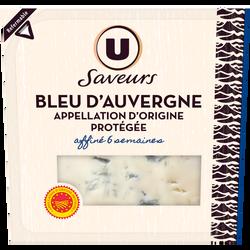 Bleu d'Auvergne AOP au lait thermisé 29%mg U SAVEUR 125g