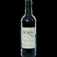 Vin rouge AOP Cabardès prestige château Bonal, bouteille de 75cl