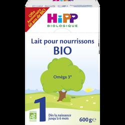 HIPP 1 pour nourrissons bio, jusqu'à 6 mois, boîte de 600g