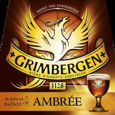 Bière ambrée GRIMBERGEN, 6,5°, 6x25cl