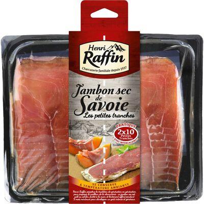 Jambon sec de Savoie petites tranches HENRI RAFFIN, 2x10