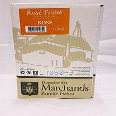 DOMAINE DES MARCHANDS ROSÉ FRUITÉ 11,5% vol , 5l