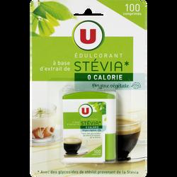 Edulcorant à base de stevia U, briquet de 100 comprimés, 30g