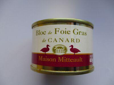 BLOC DE FOIE GRAS DE CANARD MAISON MITTEAULT BOITE 65G