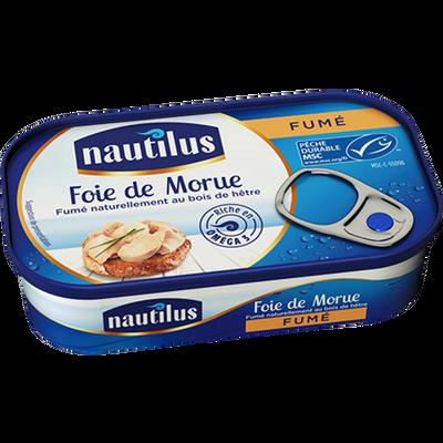 Foie de morue fumé NAUTILUS, 120g