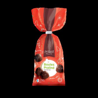 Boules au praliné au chocolat noir JACQUOT, sachet de 250g