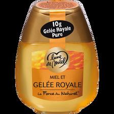 Miel liquide et gelée royale LUNE DE MIEL, doseur 250g