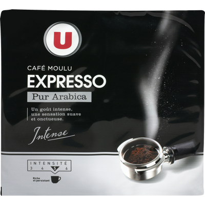 Café Expresso moulu U, 2 paquets de 250g, 500g