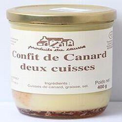 Confit de canard deux cuisses, Produits du causse, 400g