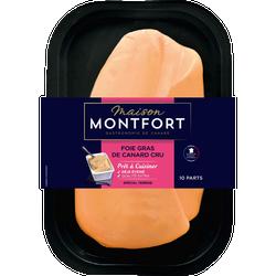 Foie gras canard cru extra déveiné, MAISON MONTFORT, France, barquette, 570g