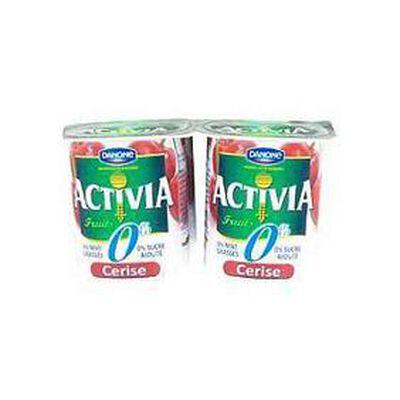 Yaourts fruits 0% cerise, ACTIVIA, 4x125g