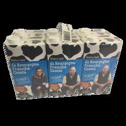Lt uht 1/2e notre lait Bourgogne Franche Comté DELIN bk 6x1l