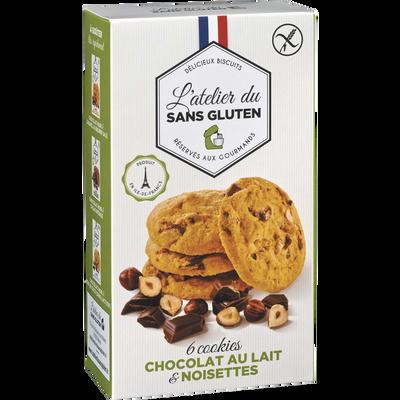 Cookies chocolat lait et noisettes sans gluten L'ATELIER DU SANS GLUTEN, 150g