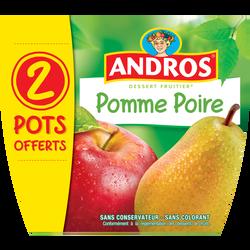 Dessert fruitier pomme/poire ANDROS x8 dt 2 pots offerts