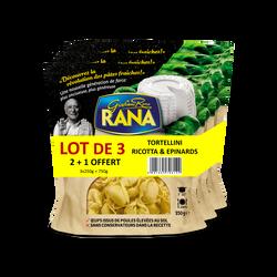 Tortellini ricotta et épinards RANA, 2+1 offerte, 750g