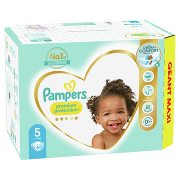 Pampers Couches Premium Protection Langes Geant Maxi Pampers T5 X68