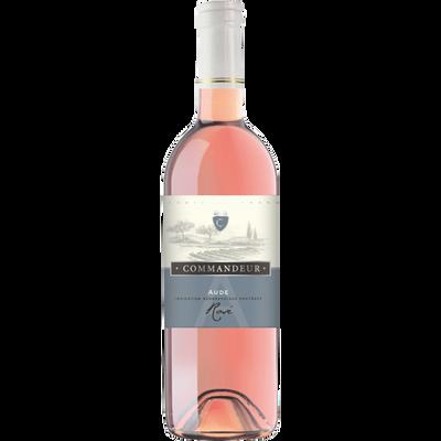 """Vin rosé de pays de l'Aude """"COMMANDEUR"""", bouteille de 75cl"""