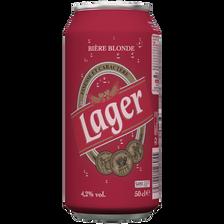 Lager Bière Blonde  U, 4,2°, 50cl