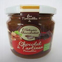 Chocolat à tartiner noisettes sans huile de palme, 240gr ,pot, l'artisan chocolatier