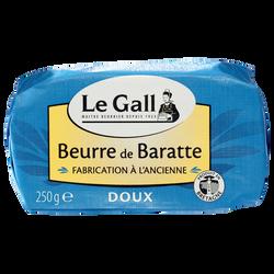 Beurre de baratte doux fabrication à l'ancienne LE GALL, 82%mg, 250g