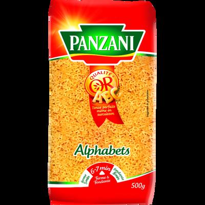 Pâtes à potage alphabet PANZANI, paquet de 500g