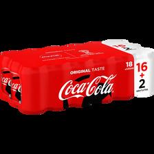 COCA-COLA regular, 16x33cl + 2 gratuites