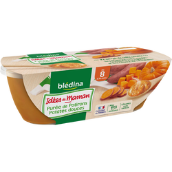 Les Idées De Maman Bols de potiron et patate douce BLEDINA, dès 6 mois, 2x200g