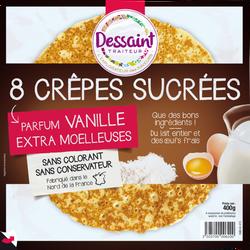 Crêpes moelleuses sucrées DANIEL DESSAINT, x8, 400g