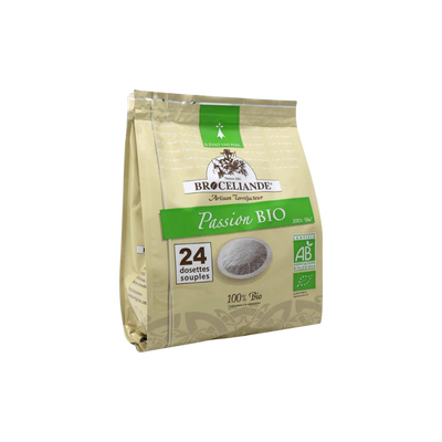 Café passion BIO BROCELIANDE, 24 dosettes, 250g