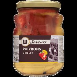 Poivrons grillés rouges et jaunes à l'huile U SAVEURS, bocal de  159g