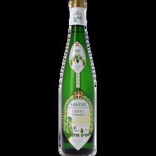 Vin blanc Savoie AOP Crepy Goutte d'or Mercier Crepytant, bouteille de75cl