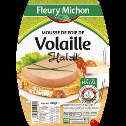 Mousse foie de volaille halal FLEURY MICHON, 180g