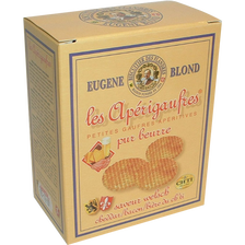 Apérigaufres pur beurre saveur Welsch EUGENE BLOND, étui de 85g