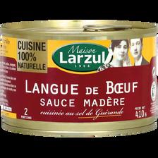 Maison Larzul Langue De Boeuf Sauce Madère , Boîte De 410g