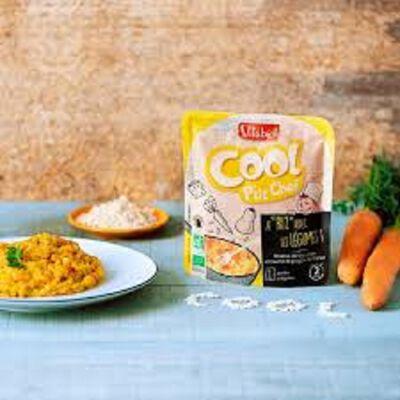 Cool P'tit Chef Risotto de légumes et touche de gruyère de France bio Vitagermine 190g 1pers
