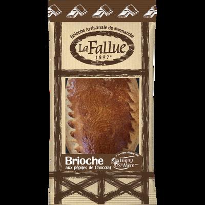 Brioche artisanale de Normandie aux pépites de chocolat LA FALLUE, 300g