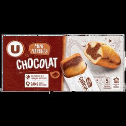 Mini gâteaux marbré chocolat U, 5 paquets de 30g, 150g