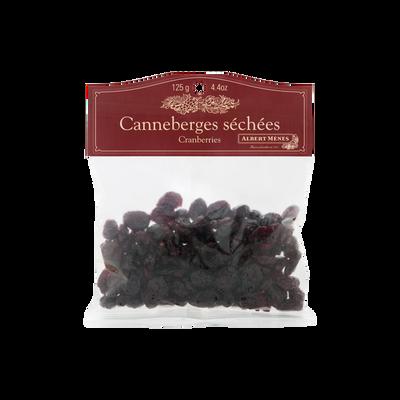 Cranberries séchées entières ALBERT MENES, sachet de 125g