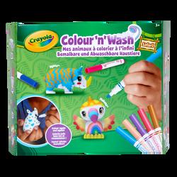 Color'N'Wash Pets Mes animaux à colorier Kit Safari CRAYOLA